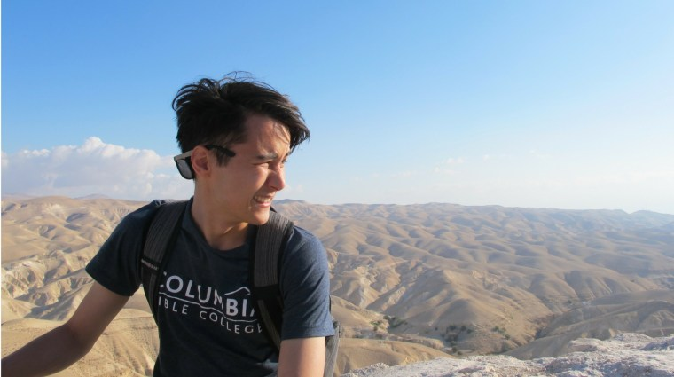 Jacob in the Judean Wilderness last summer with the RELS 380 Physical Settings of the Bible class.