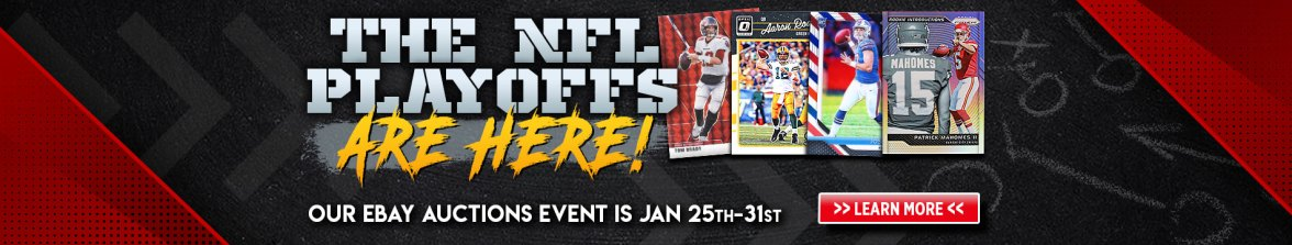 Football Cards, NFL, NFL Playoffs, Super Bowl, Baseball Cards, Basketball Cards, Soccer Cards, Pokemon, Trading Cards, Sports Cards, Non-Sports Cards, Tom Brady, Aaron Rodgers, Josh Allen, Patrick Mahomes,