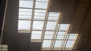 Skylights fit between rafters