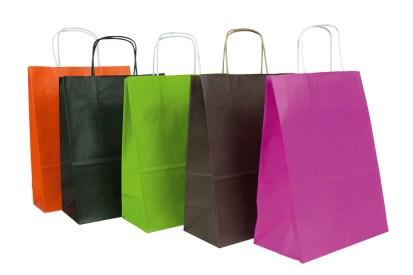 Le sac kraft de couleur