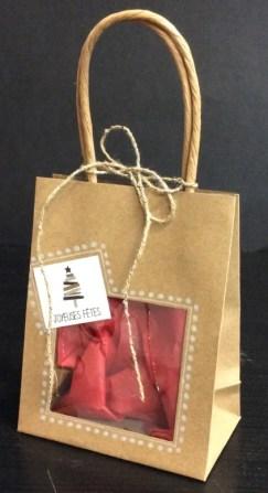sac kraft à fenêtre customisé pour Noël