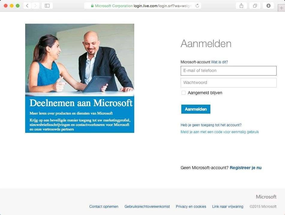 Aanmelden bij Microsoft-account geeft u toegang tot OneDrive en meer.