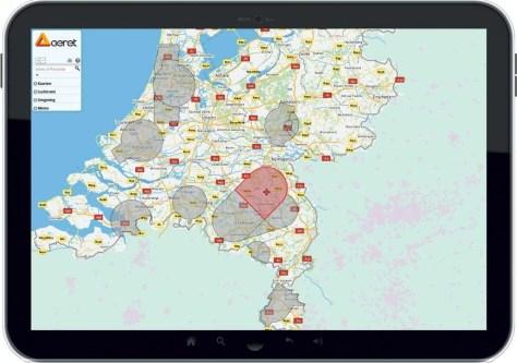 De app Drone PreFlight geeft overzichtelijk weer waar er in Nederland vliegbeperkingen gelden. Bron: Aeret.