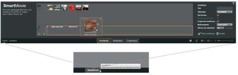 SmartMovie in werking.