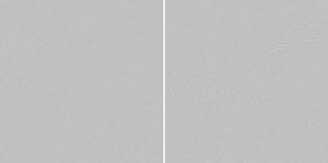 Instellingen bij Straal: links 1.4, rechts 3.0.