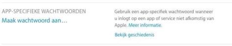 App-specifieke wachtwoorden aanmaken.