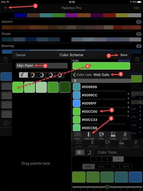 Genereer kleurenpaletten voor (bijvoorbeeld) webgebruik.