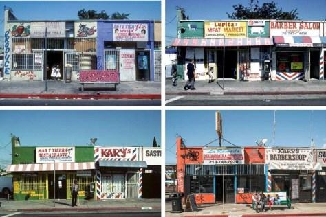 2113 S. Central Ave in Los Angeles. Vier foto's uit een serie van achttien, gemaakt tussen 1992 en 2016.