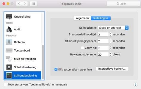 Stilhoudbediening is eveneens een nieuwe en spectaculaire functie in macOS Sierra.
