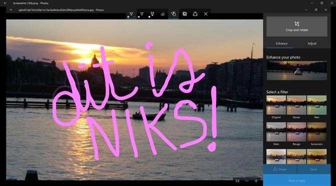 Minder functionaliteit in update van Windows Photos