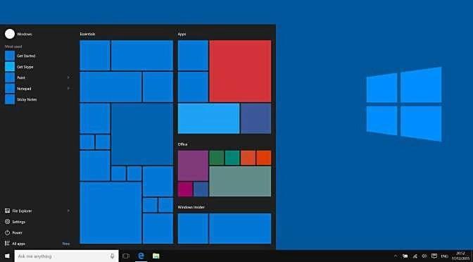 Let op als je Windows 10 schoon installeert (bron afbeelding: https://commons.wikimedia.org/wiki/File:Windows10abstract.png)
