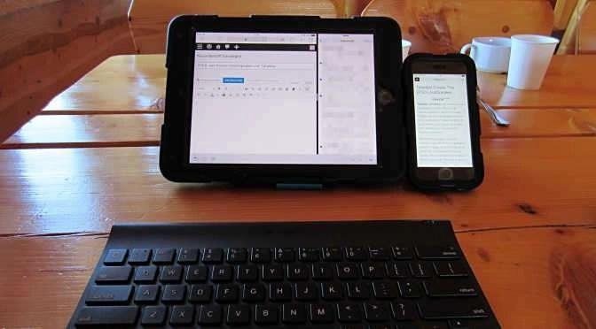 Mobiel werken met je tablet