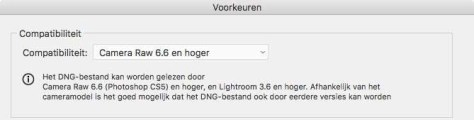 DNG-converter-compatabiliteit
