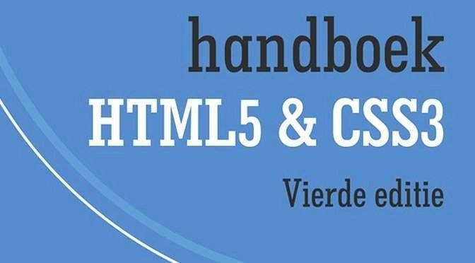 Handboek HTML5 en CSS3: afspraken over webtalen
