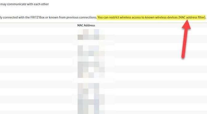 Schakel het MAC adresfilter voor Wifi aan in je router