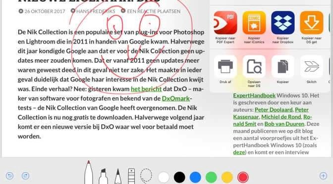 iOS 11 maakt converteren naar PDF een eitje