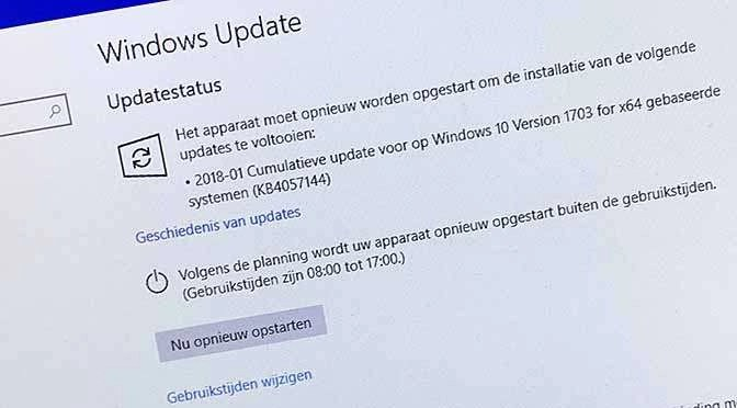 Weer gepushte Windows 10 update