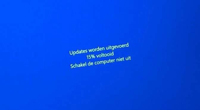 Even wachten: update voor Windows 10!