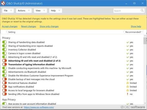 Privacy-instellingen in Windows 10
