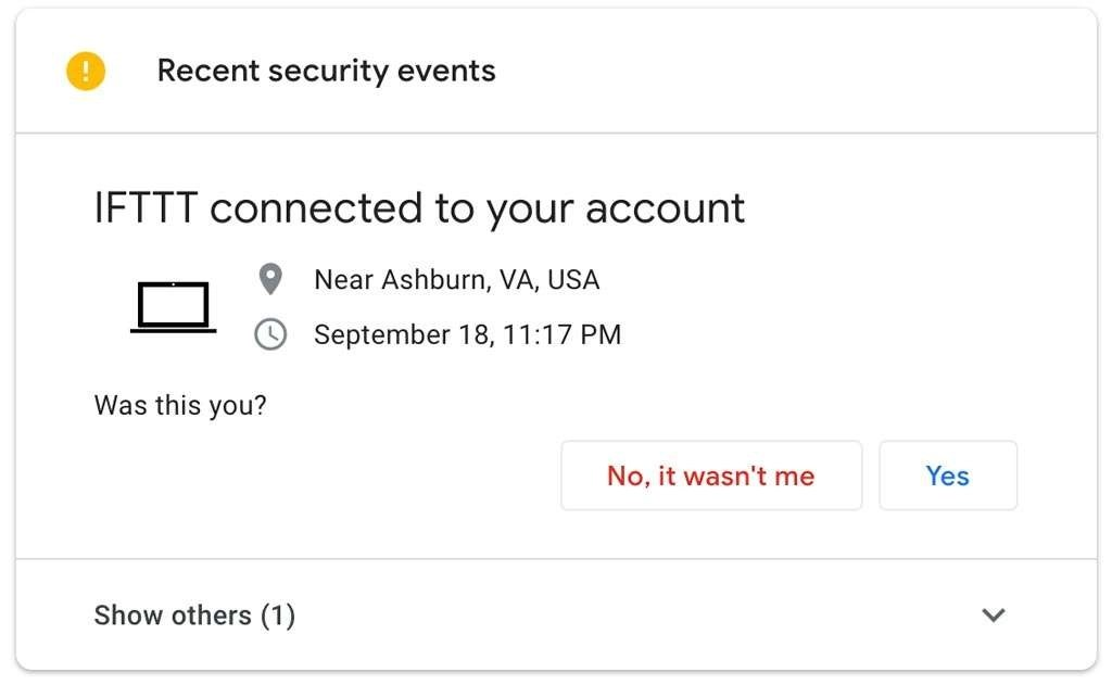 Security events en Third-party access