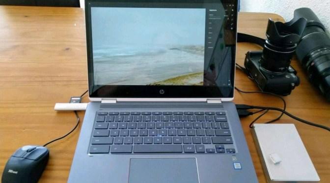 Foto's en een Chromebook