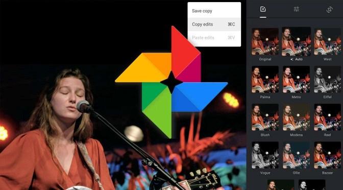 Bewerkingen kopiëren en plakken in Google Foto's