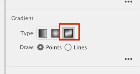 Kies je Freeform gradient