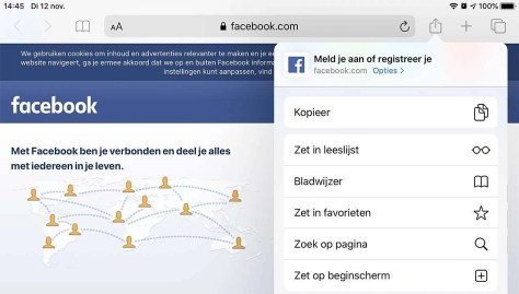 Facebook mobiel
