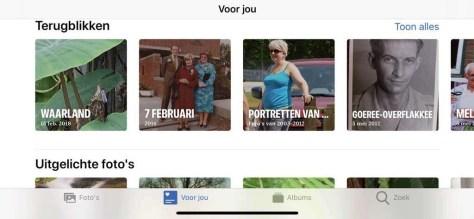 De app Foto's in iOS 13