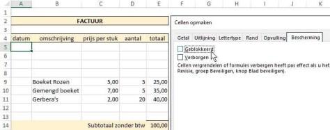 Excel-tips: een werkblad beveiligen