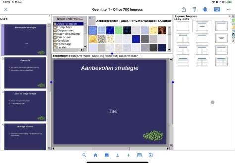 Office 700 voor de iPad