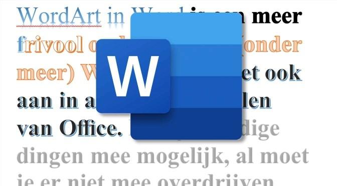 Creatief met WordArt in Word