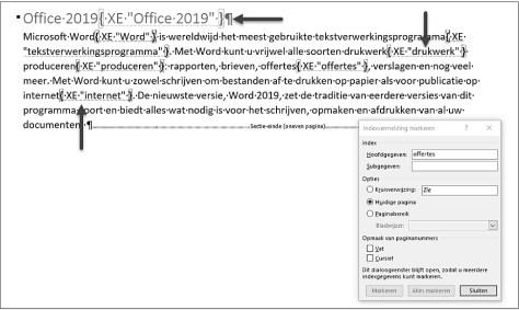 een index maken met Word
