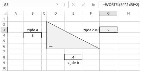 wiskunde met Excel