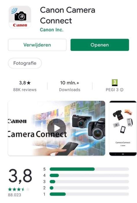 Canon Camera Connect Een Canon EOS camera verbinden via wifi of bluetooth