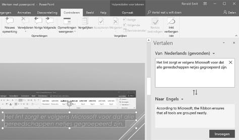 PowerPoint synoniemen en woordenboek