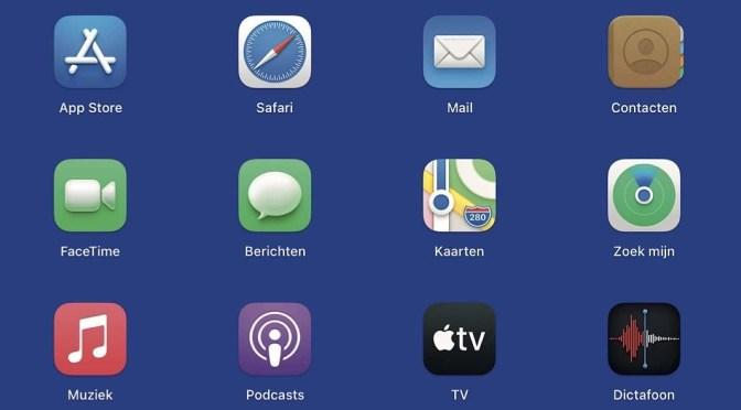 De macOS Launchpad, net als op je mobiel
