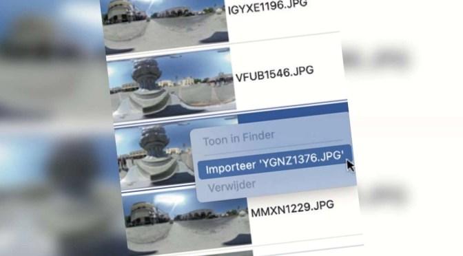 Foto's importeren van een camera in macOS