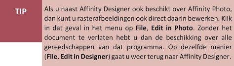 rasterafbeelding bewerken in Affinity Designer