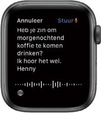 tekst invoeren op de Apple Watch
