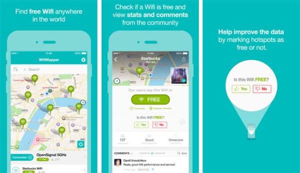 WiFiMapper encuentra puntos WiFi gratuitos cercanos