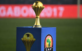 the afcon title on display