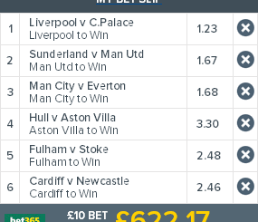 Accumulator bet sample