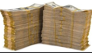 image of money won from betting