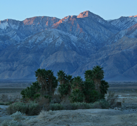 Saline Valley Springs and the Inyo Mountains