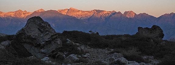Limestone Ridge - Trinity Alps