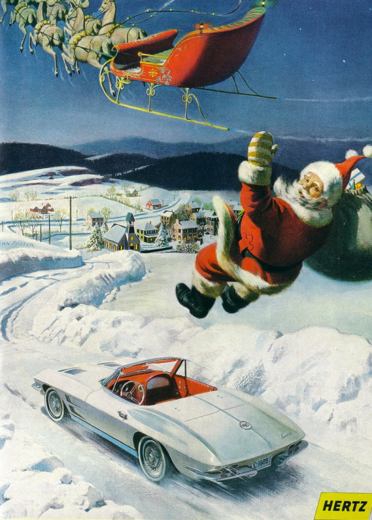 Christmas Madness 6 Classic Car Ads With A Holiday Theme
