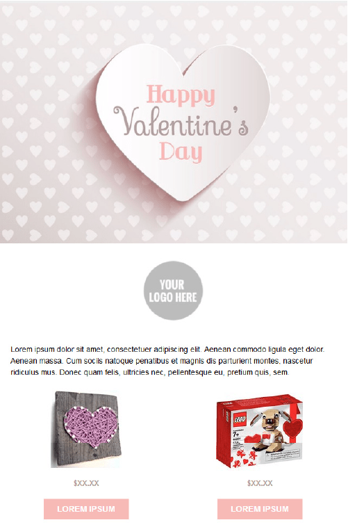 Valentines Day Email Templates - Candy Hearts