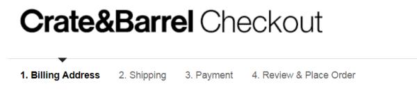 Checkout page process bar