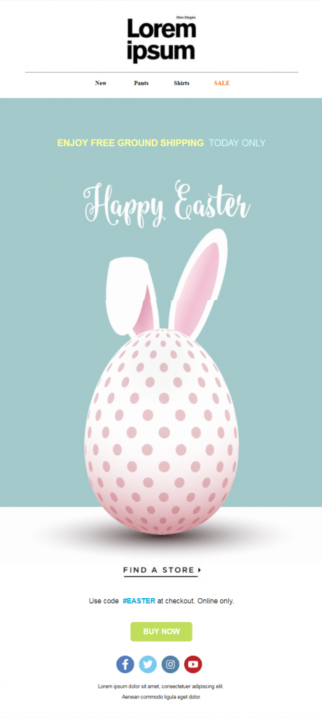Easter Email Templates #2: Bunny Ears